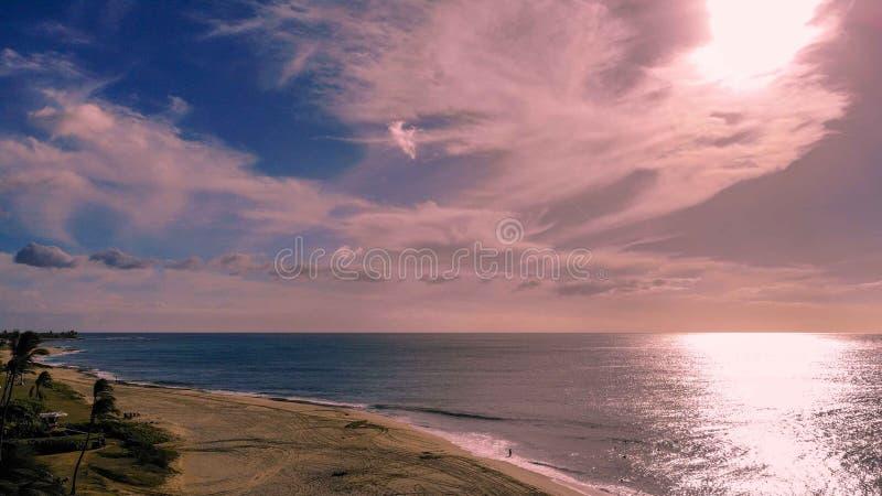 Вид с воздуха пляжа Mana Kai стоковая фотография rf