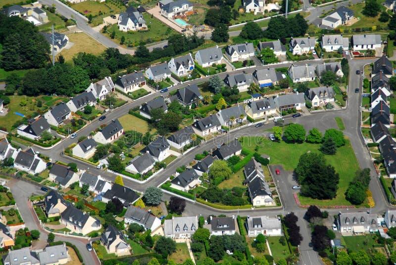 Вид с воздуха подразделения дома стоковые фотографии rf