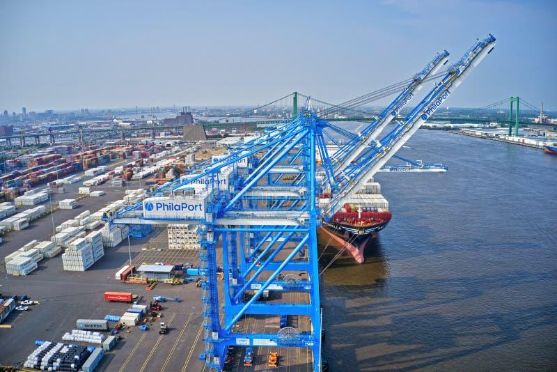 Вид с воздуха порта Филадельфии стоковое фото rf
