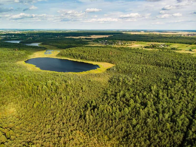 Вид с воздуха пути Varnikai когнитивного идя, водя через самые красивые места заповедника Varnikai, обнаруженные местонахождение  стоковые фотографии rf