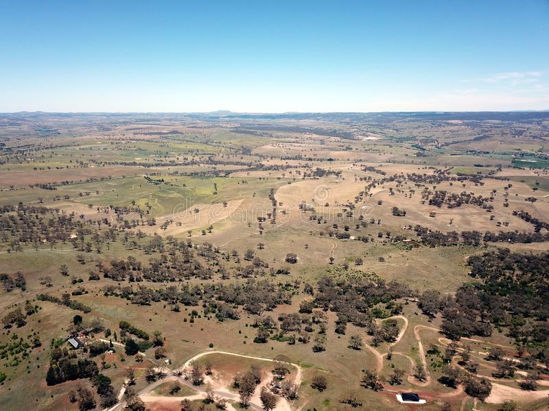 Вид с воздуха регионального города страны Bathurst стоковые фотографии rf