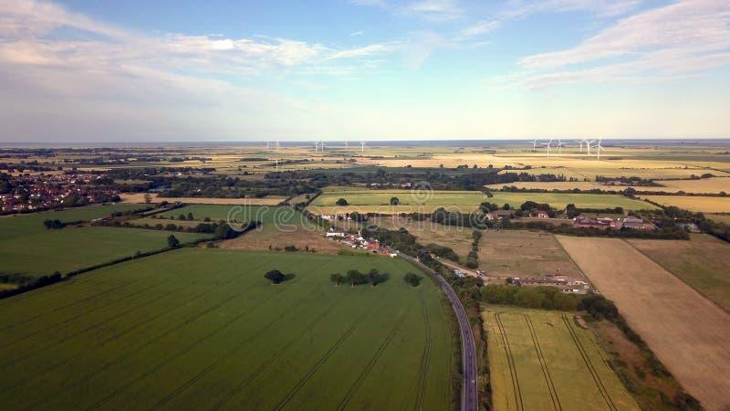 Вид с воздуха сельской местности Essex стоковые фотографии rf