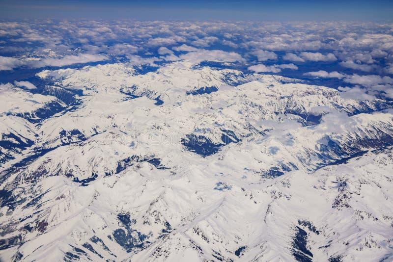 Вид с воздуха снежной итальянской горы около Денвера стоковые изображения