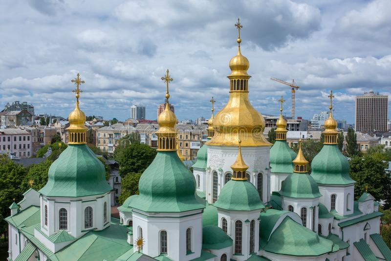 Вид с воздуха собора St Софии в Kyiv стоковые фото
