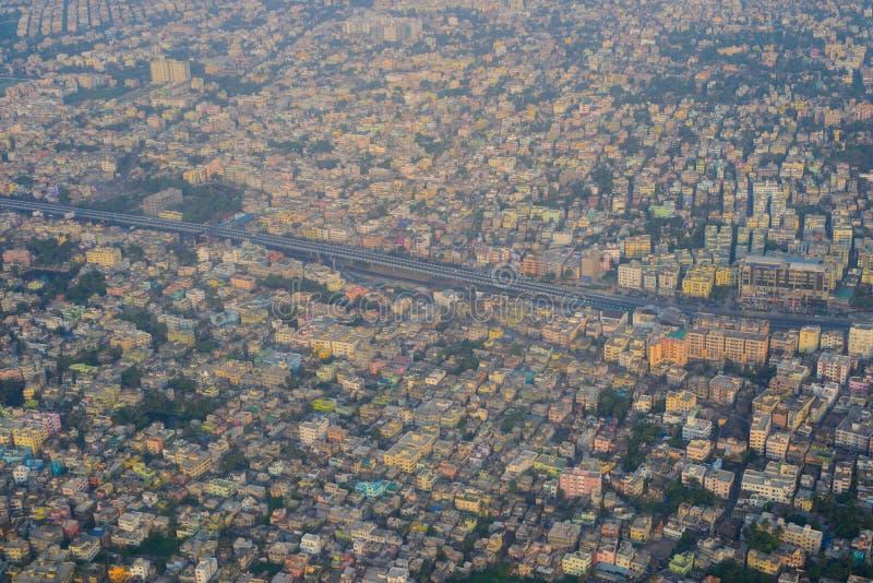 Вид с воздуха старого города Kolkata стоковое изображение rf
