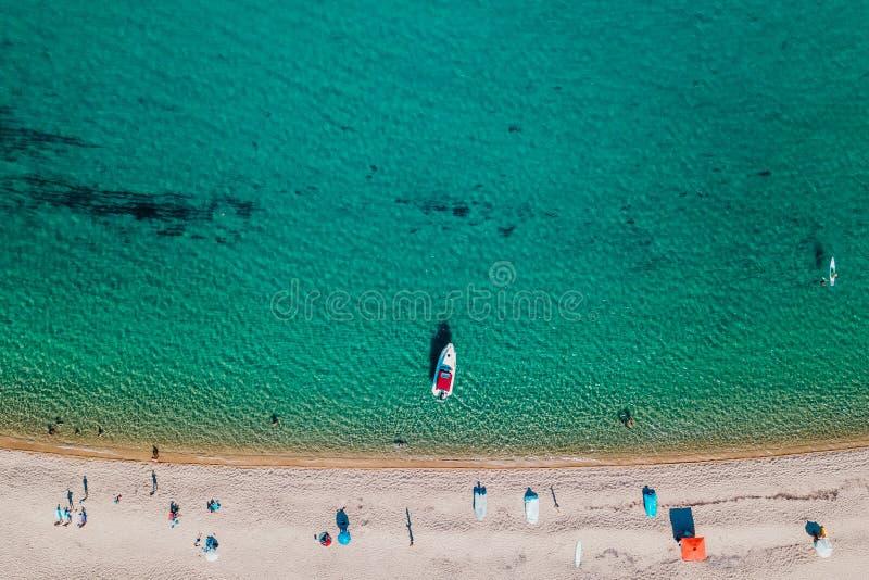 Вид с воздуха тропического пляжа стоковая фотография rf