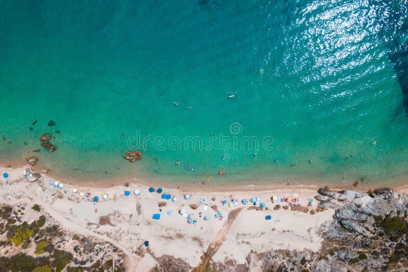 Вид с воздуха тропического пляжа стоковое изображение rf
