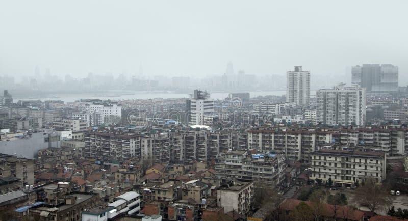 Вид с воздуха Ухань стоковые фотографии rf