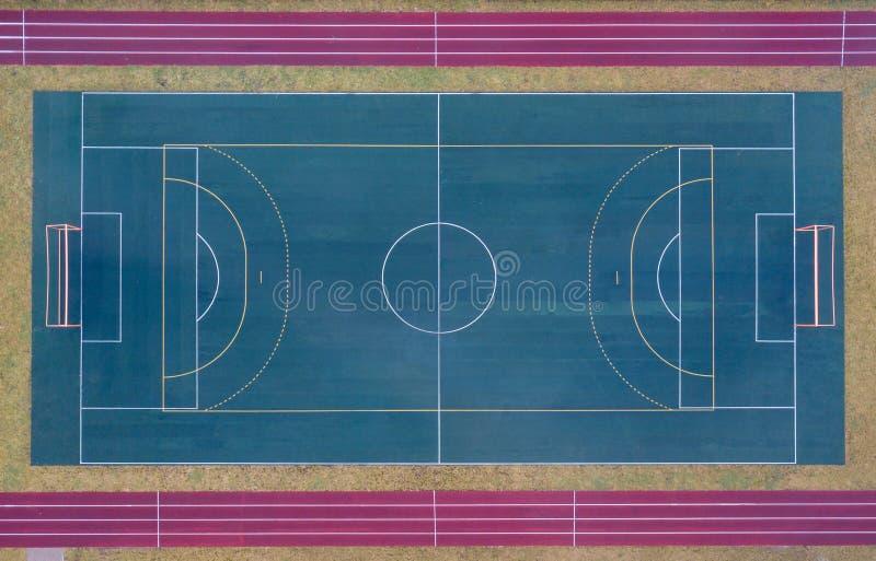 Вид с воздуха футбольного стадиона футбол поля конструкции вы стоковые изображения