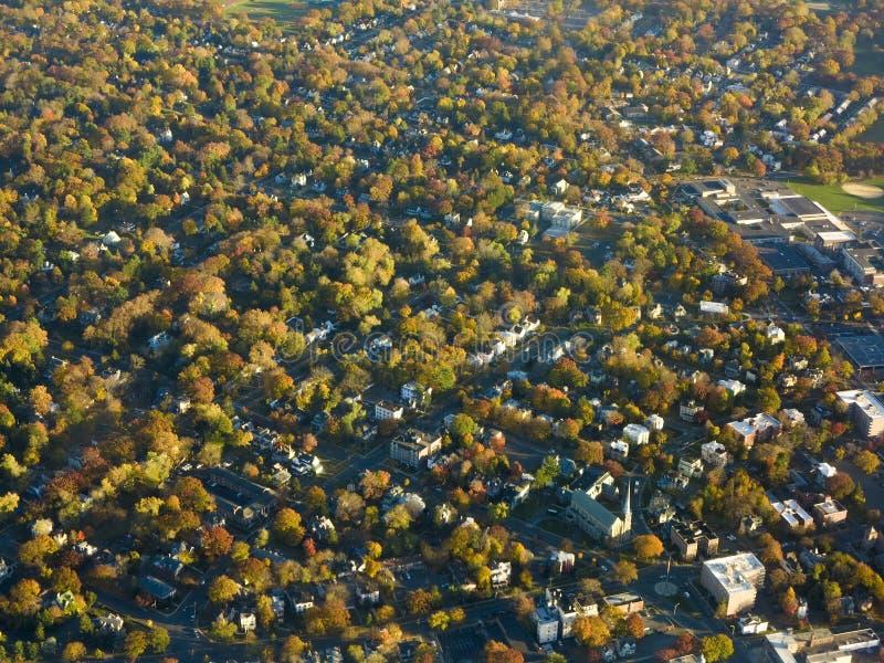 Вид с воздуха цветов и района осени около Ньюарка, нового j стоковое изображение