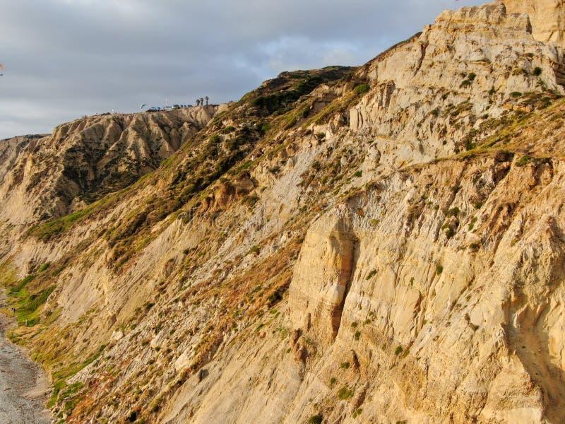 Вид с воздуха черного пляжа, сосен Torrey california r стоковые фото