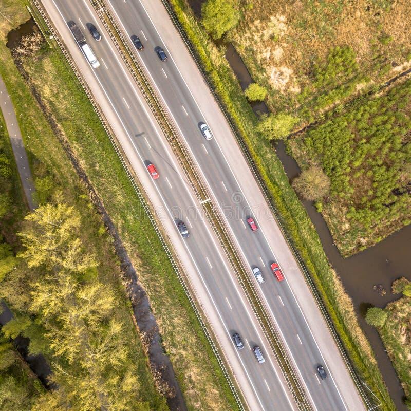 Вид с воздуха шоссе 4 майн стоковое изображение