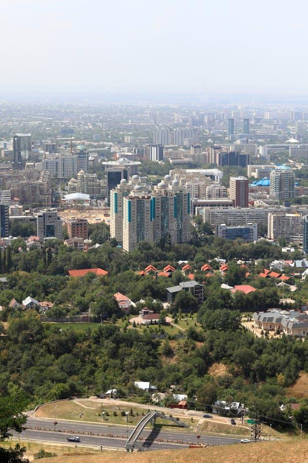 Вид с воздуха Almaty стоковое фото rf