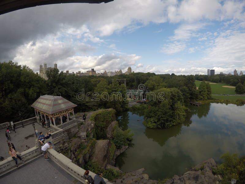 Вид с воздуха Central Park воздушный горизонтальный стоковая фотография rf