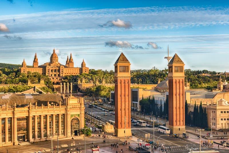 Вид с воздуха d& x27 Placa; Espanya, ориентир ориентир в Барселоне, Каталонии стоковое изображение