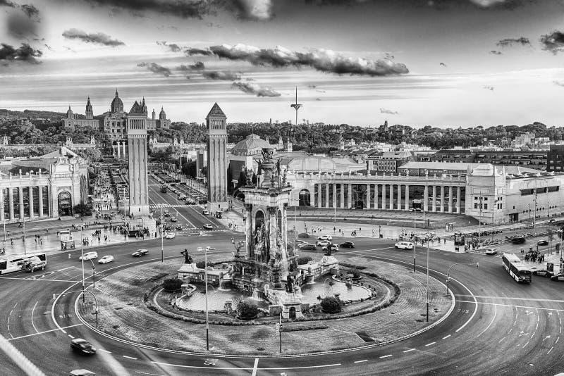 Вид с воздуха d& x27 Placa; Espanya, ориентир ориентир в Барселоне, Каталонии стоковые изображения rf