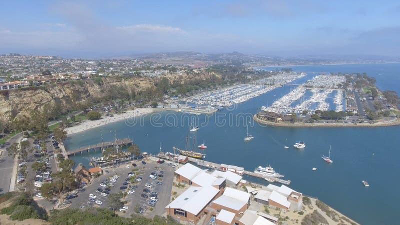Вид с воздуха Dana Point, Калифорнии - США стоковое изображение