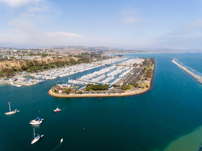 Вид с воздуха Dana Point, Калифорнии стоковое изображение