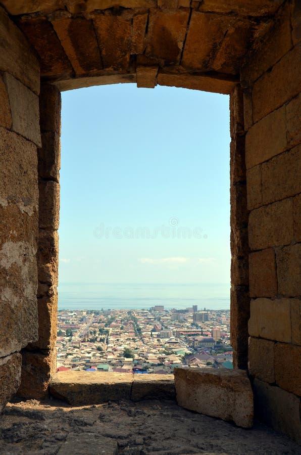 Вид с воздуха Derbent стоковые фотографии rf