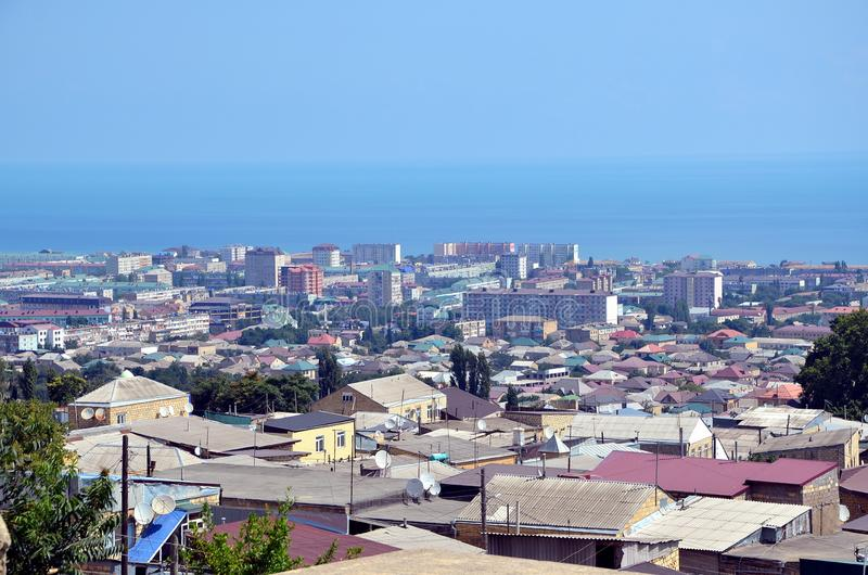 Вид с воздуха Derbent стоковая фотография