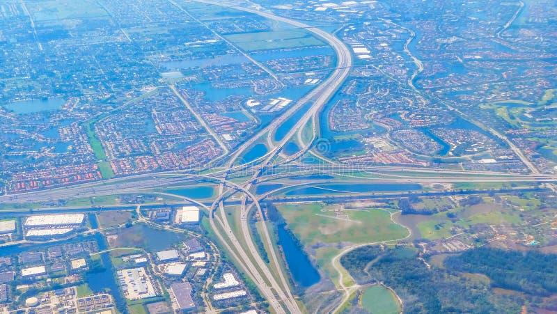 Вид с воздуха Fort Lauderdale на солнечный день стоковая фотография rf