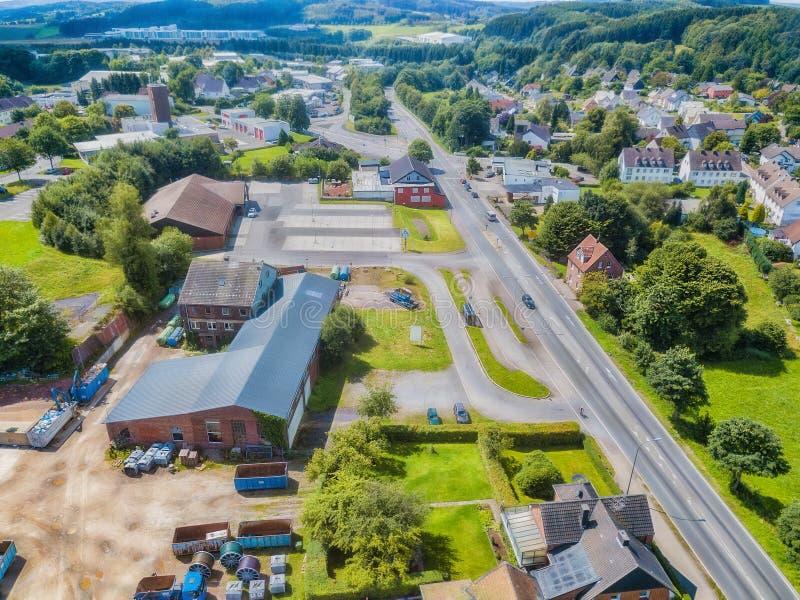 Вид с воздуха Gummersbach - Windhagen - Kotthausen стоковые изображения