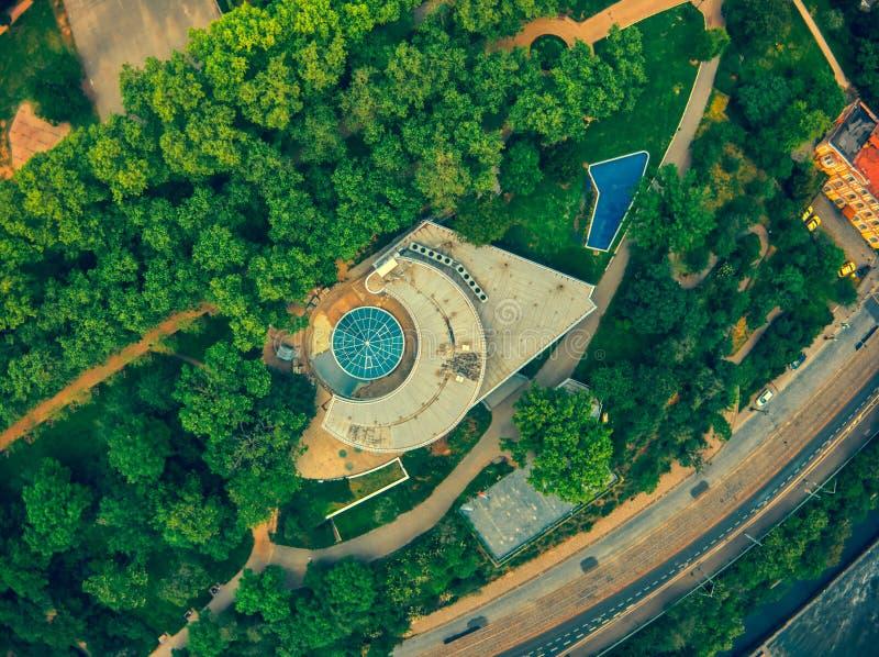 Вид с воздуха havas Праги стоковые фотографии rf