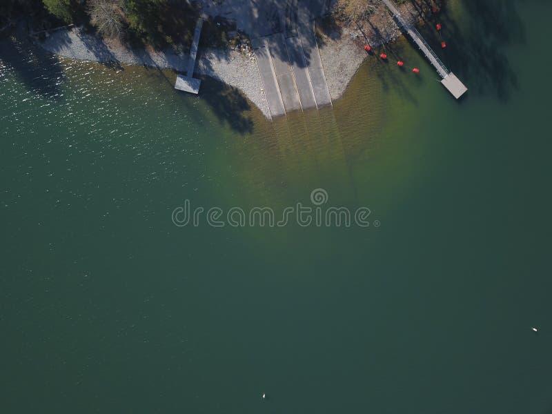 Вид с воздуха Lanier Georgia озера стоковые изображения