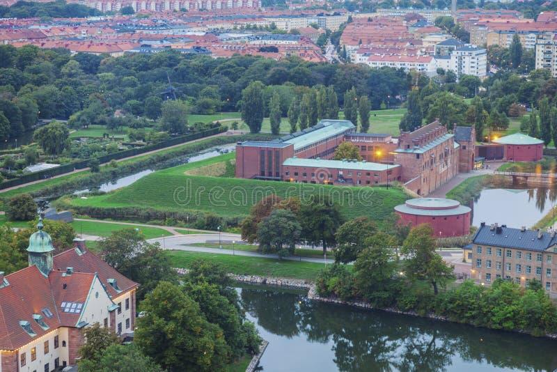 Вид с воздуха Malmo стоковые фотографии rf