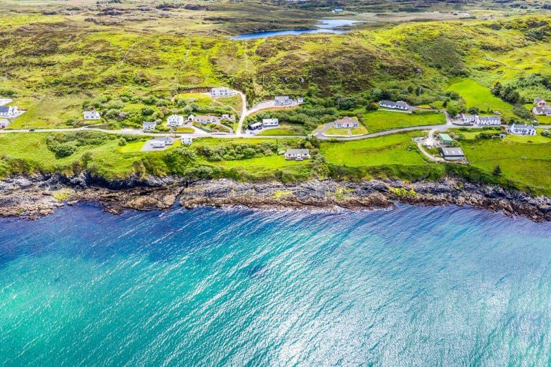 Вид с воздуха Portnoo в графстве Donegal, Ирландии стоковая фотография rf