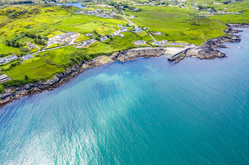 Вид с воздуха Portnoo в графстве Donegal, Ирландии стоковая фотография