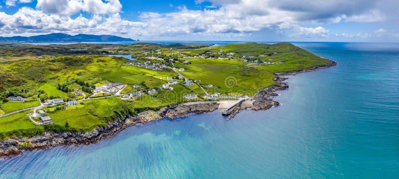 Вид с воздуха Portnoo в графстве Donegal, Ирландии стоковые фото