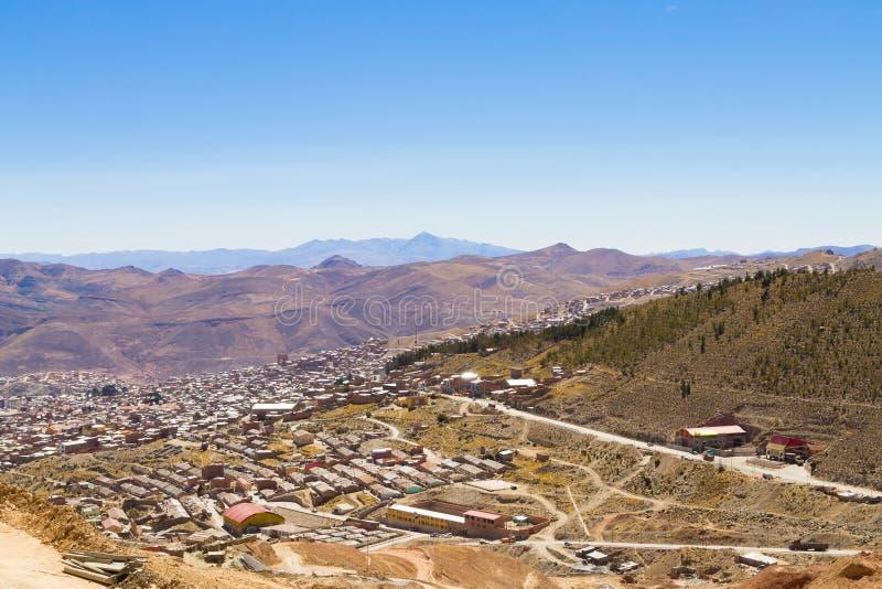 Вид с воздуха Potosi, Боливия стоковые фотографии rf