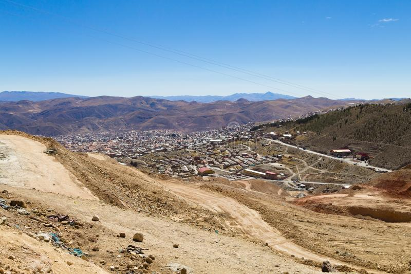 Вид с воздуха Potosi, Боливия стоковое фото