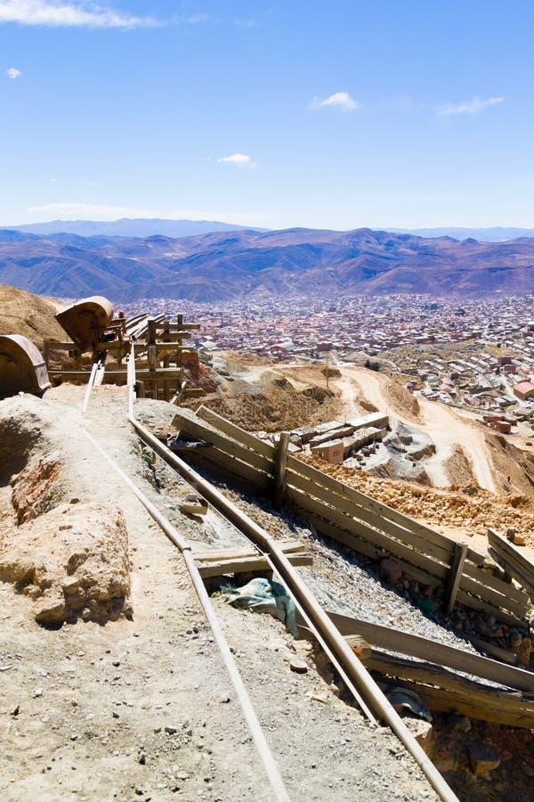 Вид с воздуха Potosi, Боливия стоковые изображения rf