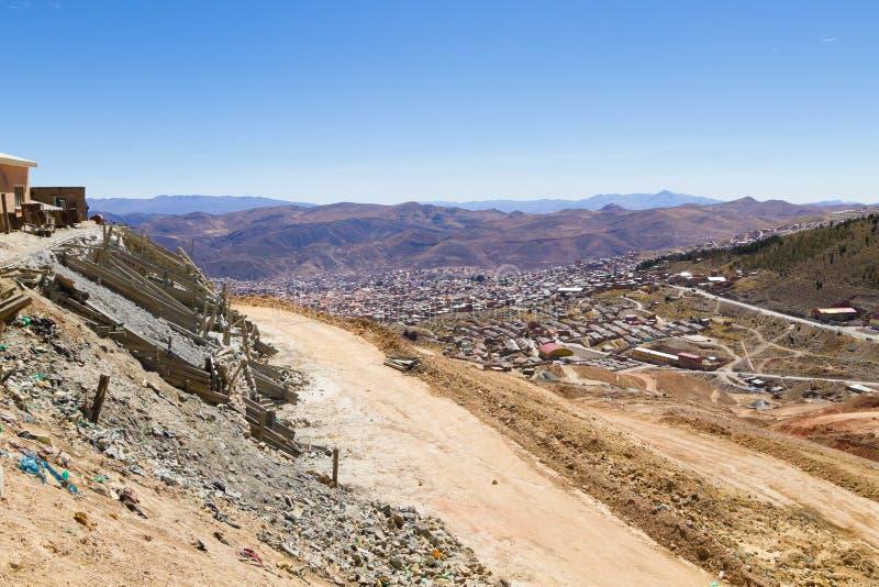 Вид с воздуха Potosi, Боливия стоковое изображение