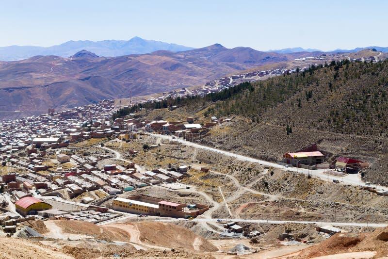 Вид с воздуха Potosi, Боливия стоковое изображение rf