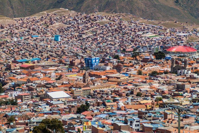 Вид с воздуха Potosi стоковые фото