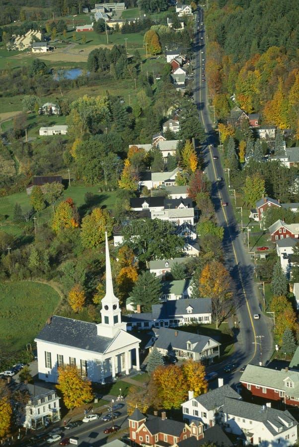 Вид с воздуха Stowe, Вермонта стоковые фото