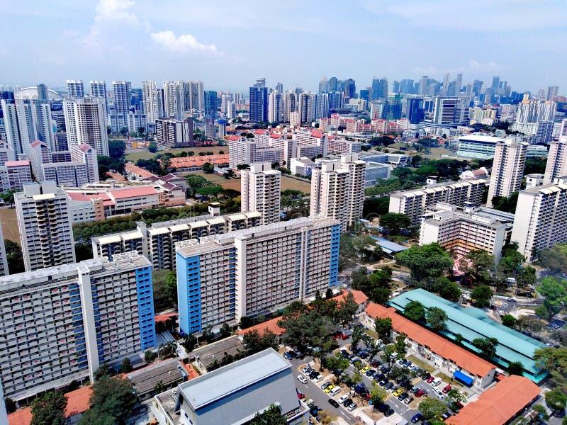 Вид с воздуха Whampoa - новенна, Сингапур стоковые изображения rf