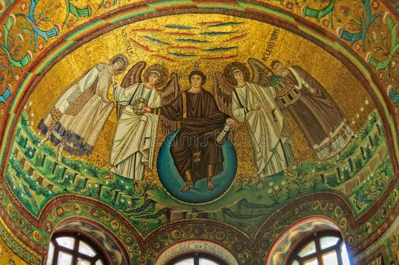 Византийские мозаики - Равенна стоковое фото rf