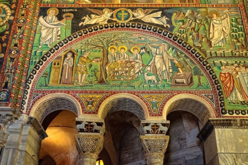 Византийские мозаики - Равенна стоковое изображение