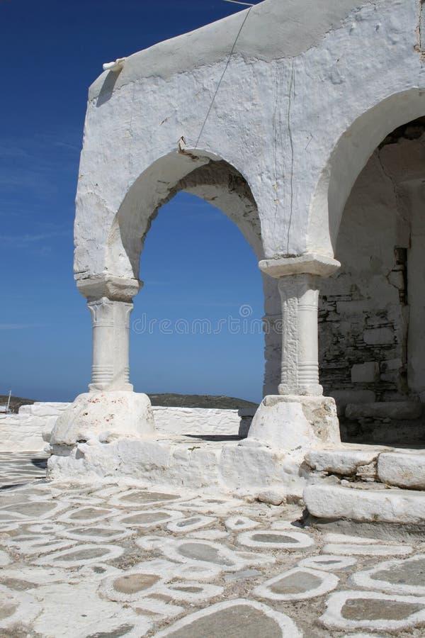 византийские paros острова Греции детали церков стоковые изображения