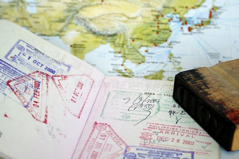 виза пасспорта стоковое изображение rf