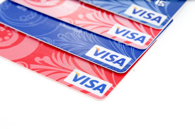 Виза. Пластичные карточки банка стоковое фото