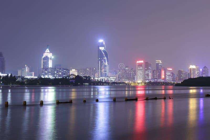 Визирование ночи озера yuandang стоковые фото