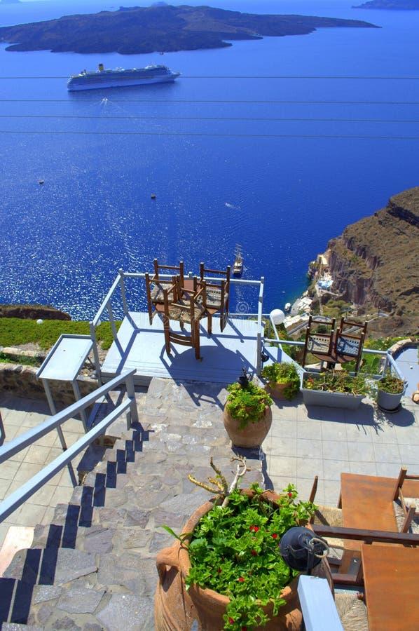 Визирование Santorini стоковые изображения