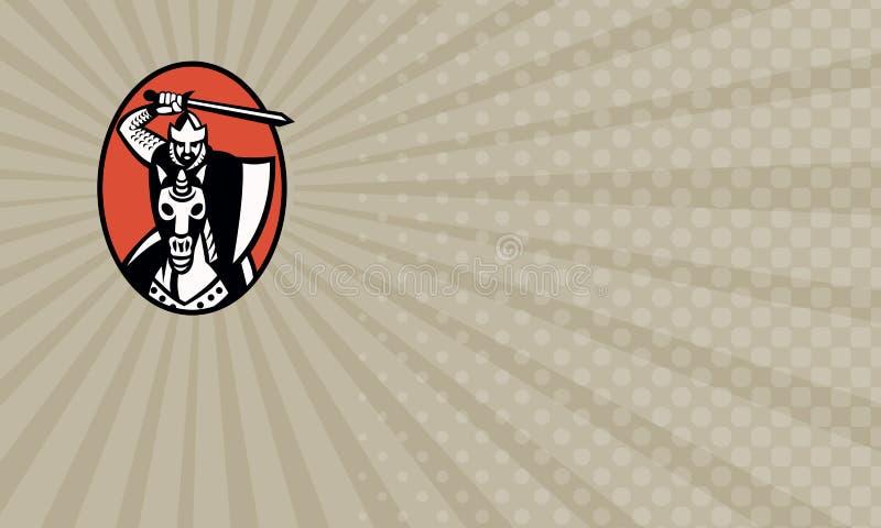 Визитная карточка бизнеса безопасности крестоносцев иллюстрация вектора