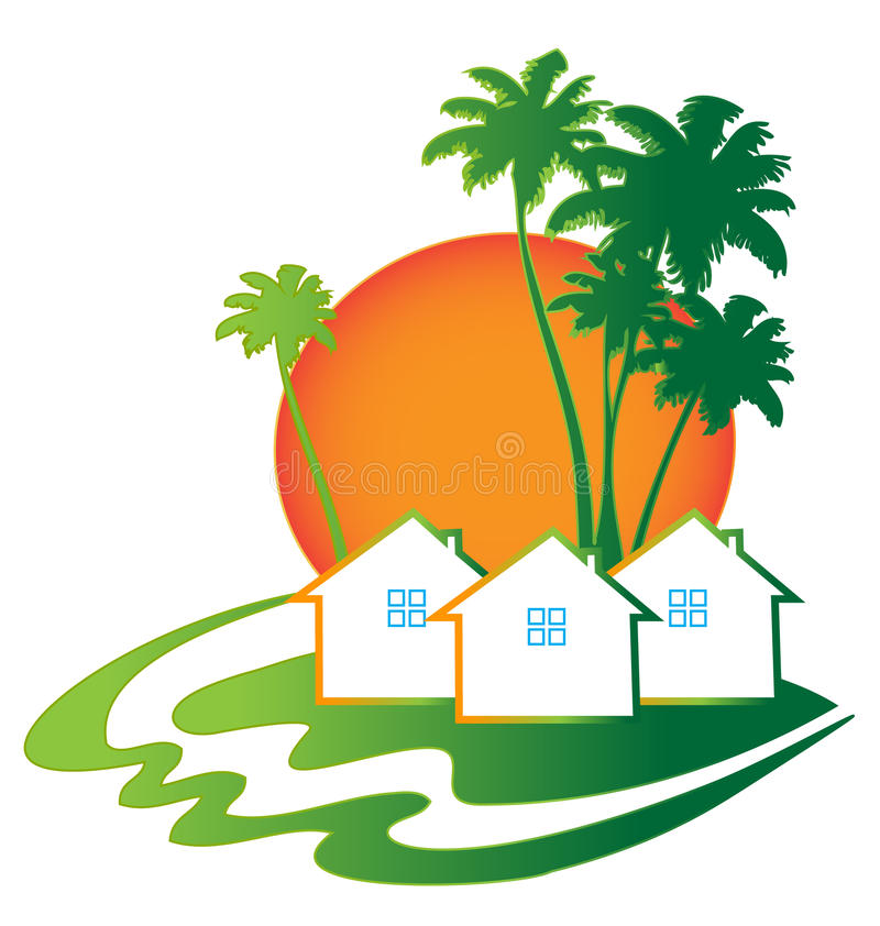 Визитная карточка недвижимости домов иллюстрация штока
