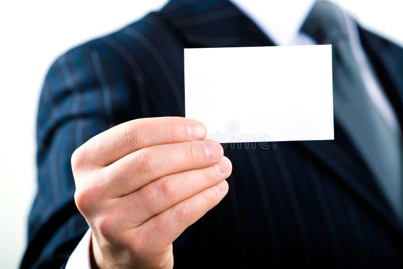 визитная карточка пустая стоковое фото